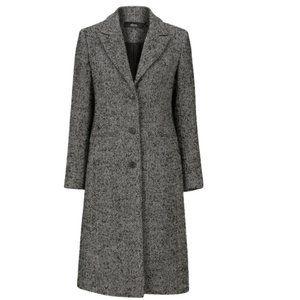 NWT Herringbone Wool-Blend Coat ELLOS